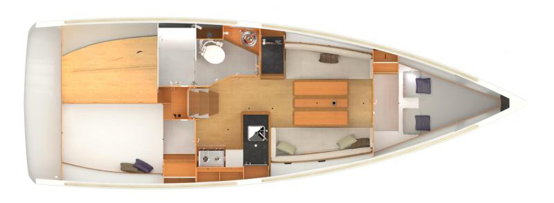 Sun Odyssey 349 lay-out
